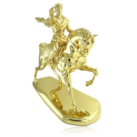 pewter horse rider souvenir award trophy
