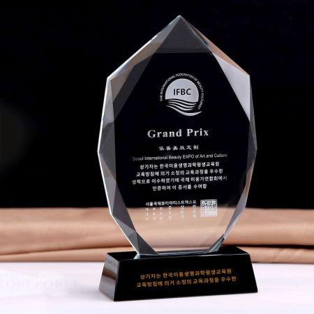 Clear Blue Edged Glass Award