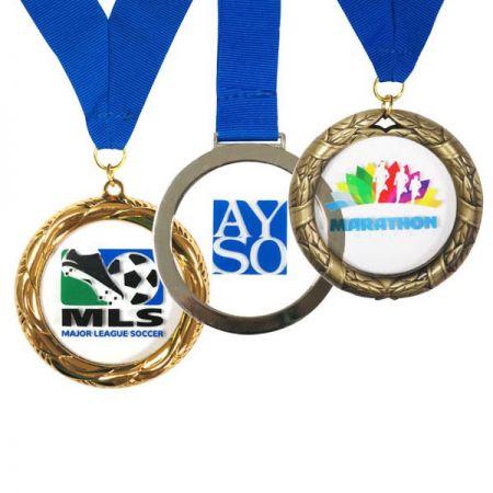 Metal Framed Acrylic Medals - Custom Made Clear Acrylic Medals