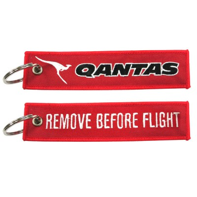 Embroidered Remove Before Flight Keychains - Embroidery Aviation Remove Before Flight Key Tags