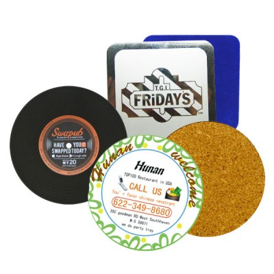 Promotional Drink Coasters - Custom Promotional Beverage Coasters