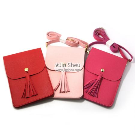 Cellphone Purse Wallet Bags - PU Leather Cellphone Purse Wallet Bags with Tassel