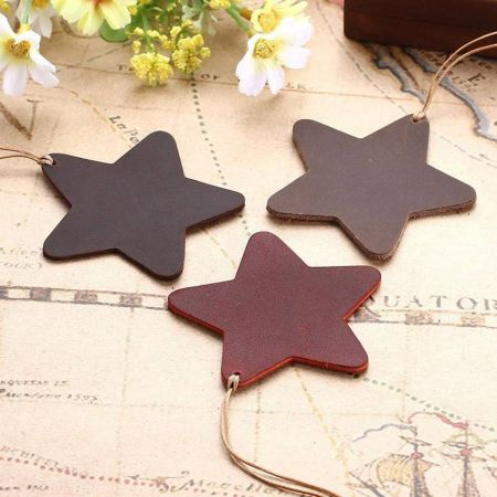 promotional leather star bookmarks