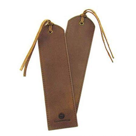 custom made leatherette bookmarks