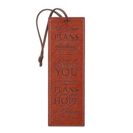 custom embossed leather bookmark