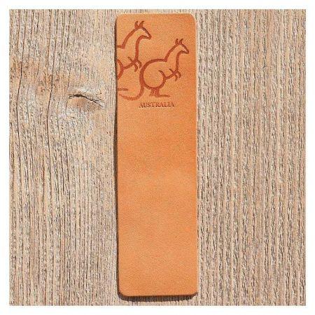 custom PU leather bookmarks