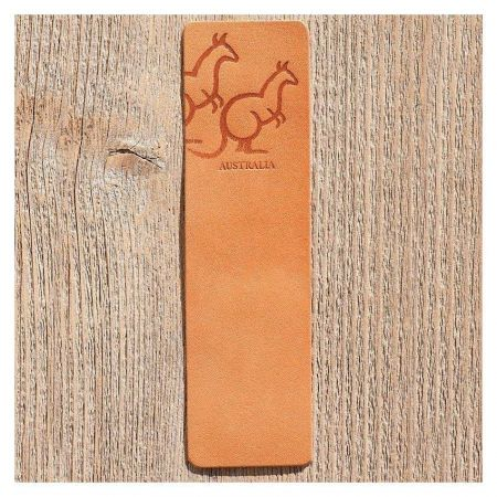 custom PU leather bookmarks