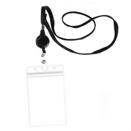 ID Card Badge Holder Lanyards - Retractable Card Holder Lanyard