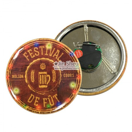 LED Flashing Button Badges - LED Flashing Button Badges