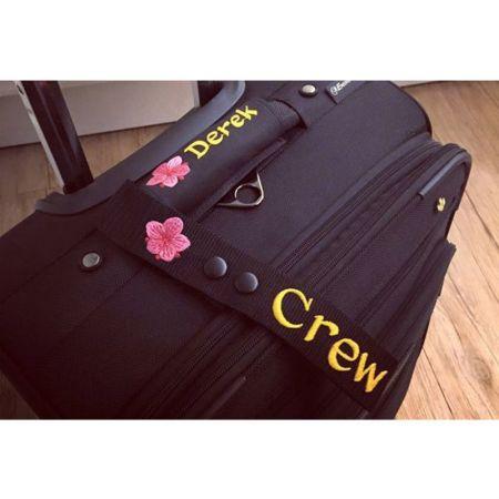 Custom Snap Luggage Tags - Custom Embroidery Snap Luggage Tags