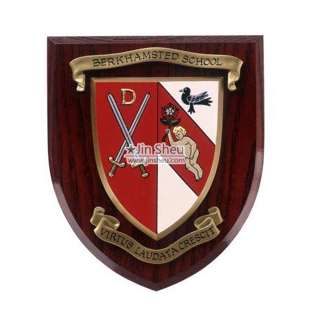 Custom Wood Wall Shield Plaques - Custom Wood Wall Shield Plaques