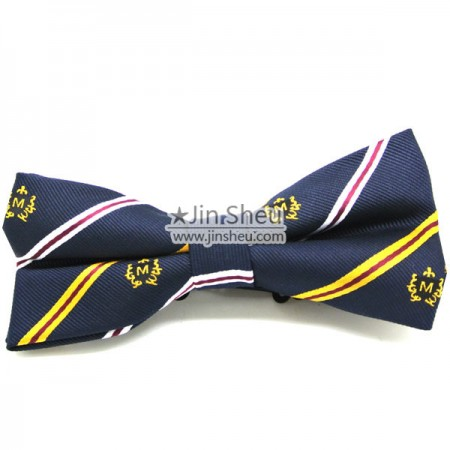 Lovely Clip-on Bow Knot - Woven Logo Clip-on Bow Tie