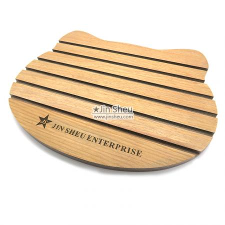 flat wood coin rack holder