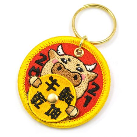 Embroidery Keychain with Spinner