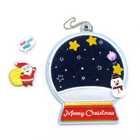 Christmas Embroidery Card Holders