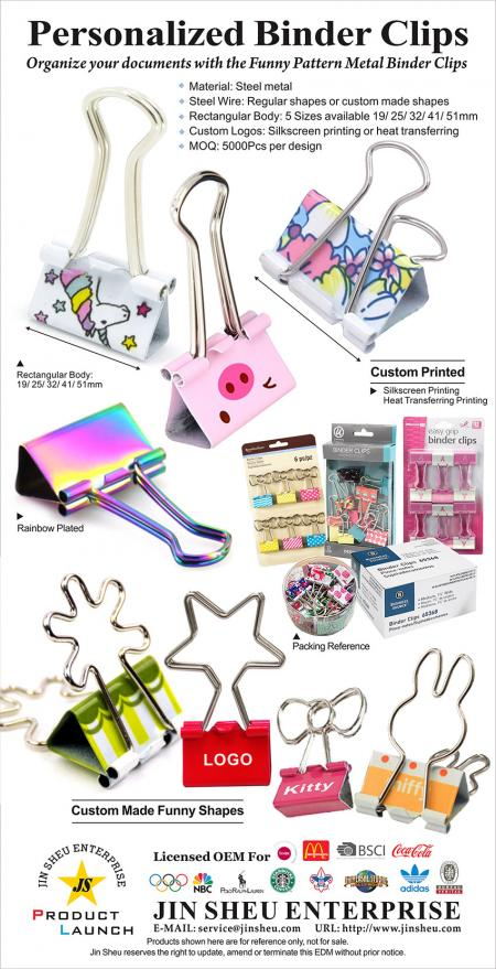 Personalized Binder Clips - Custom Binder Clips