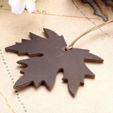 custom laser cut maple leather bookmark