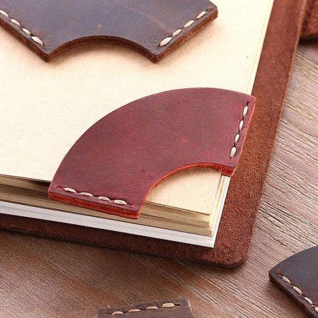 wholesale customized corner leather bookmarks