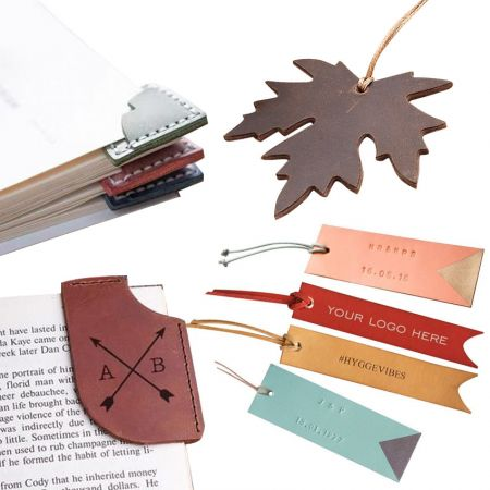 Leather Bookmarks & Corner Bookmarks - Personalized Leather Bookmark
