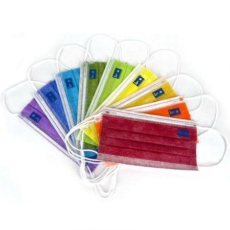 wholesale colorful disposable face masks