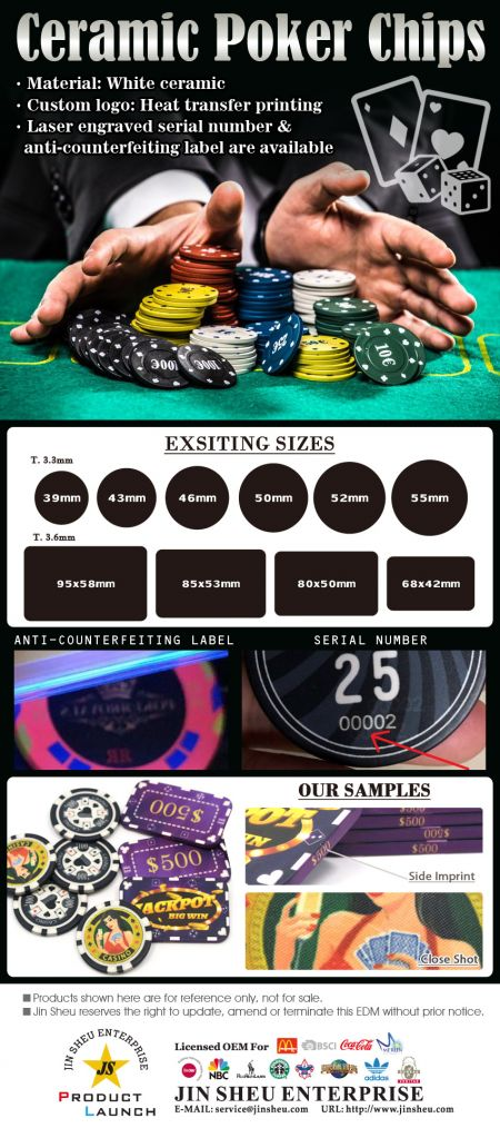 Custom Ceramic Poker Chips - Custom Ceramic Poker Chips
