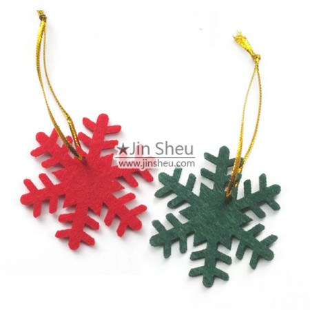 Felt Christmas Decorations - snowflake felt Christmas ornament