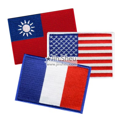 National Flag Patches - Open design flag patches