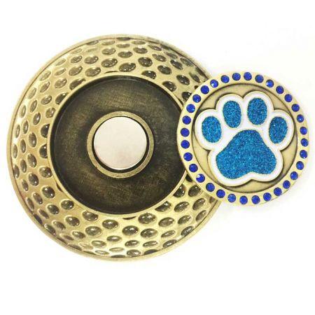 Golf Coin with Ball Marker - Antique Golf Ball Marker Die Cast Coins