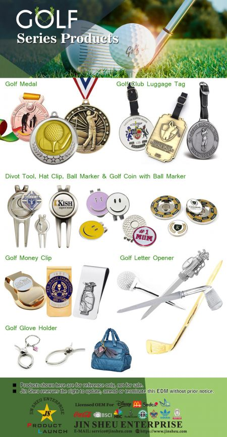 Personalized Metal golf gifts - Custom golf presents