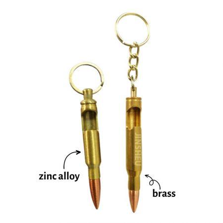 Bullet Beer Bottle Opener Keychain