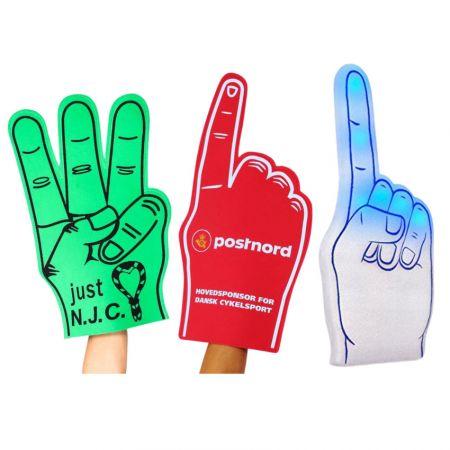 Foam Hand & Foam Finger - Foam Hand & Foam Finger With Custom Printed Logos