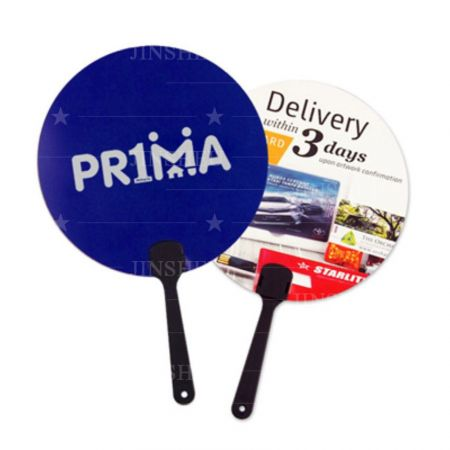 bespoke round advertising promotional hand fans