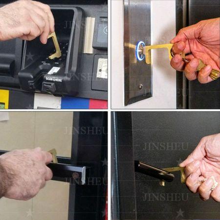 Anti-Virus Door Opener Key Chain