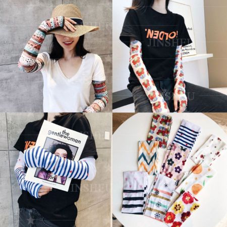custom printed fashionable UV arm sleeves