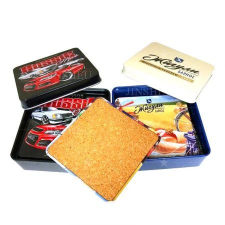 Custom Metal Tin Coasters - Custom Metal Tin Coasters