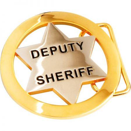 Sheriff Star Belt Buckle - Sheriff Star Belt Buckle