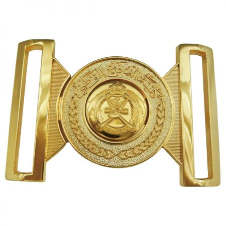 Interlocking Gold Belt Buckle - Interlocking Gold Belt Buckle