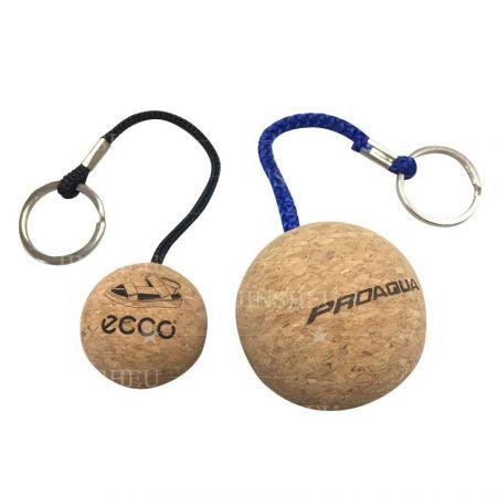personalizeed cork floating boat keyring