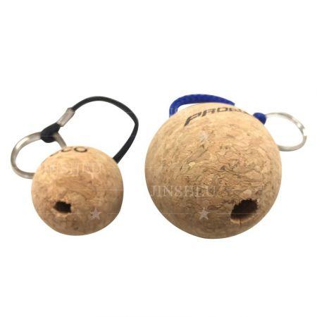 wholesale blank round cork key chain