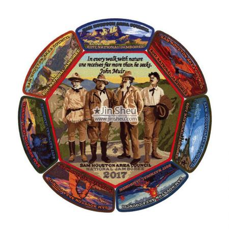 Custom Embroidered Boy Scout Jamboree Patches