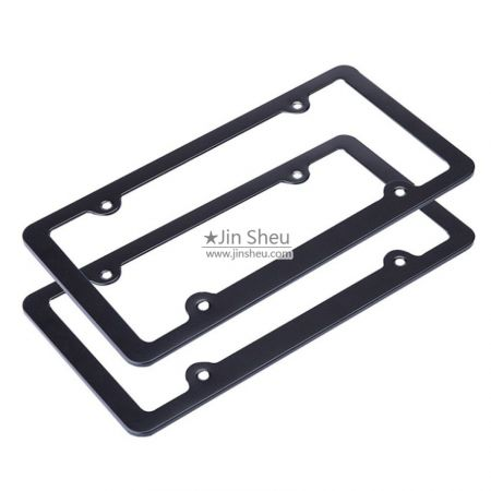 custom logo auto license plate frames