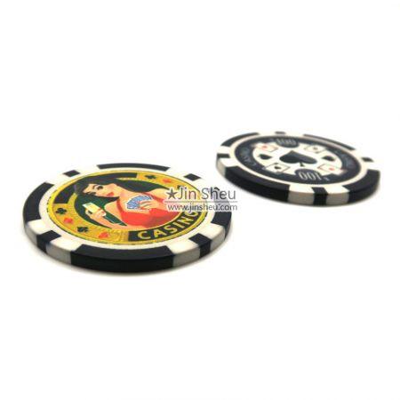 personalise ceramic casino tokens