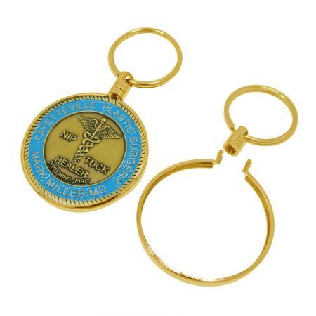 Challenge Coin Bezel Keychain