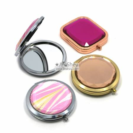 Crystal Gemstone Pocket Compact Mirrors - Crystal Gemstone Pocket Compact Mirrors