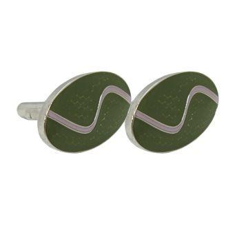 Green Cufflinks - Green Cufflinks
