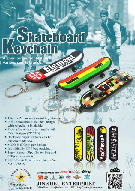 Personalized Finger Skateboard Keychains - Personalized Finger Skateboard Keychains
