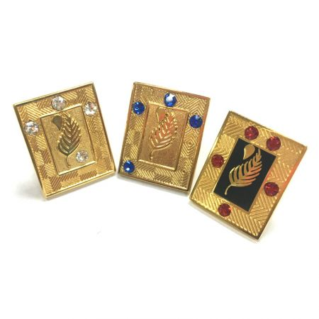 Rhinestone/ Gemstones Lapel Pins - Enamel Gemstone Lapel Pins/ Simulated Gemstone Brooches