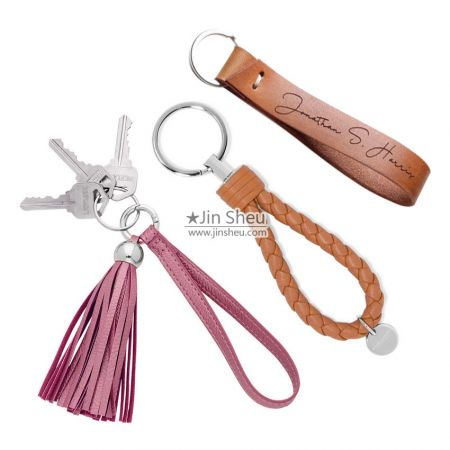 Custom Design Leather Keyrings - Custom Designed Leather Keyrings