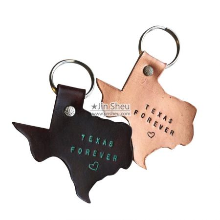 Custom Cut Out Shape Leather Keyrings - Custom Cut Out Shape Leather Keyrings