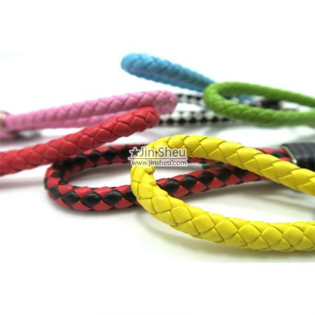 Braided Leather Keychain - Braided Leather Keychain
